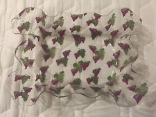 Acrylic Scalloped Tray with Grape Printing