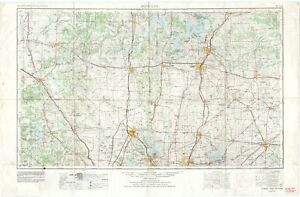 (3) 1977 Sherman, Dallas & Tyler, TX vintage 1:250000 USGS Topo Map originals