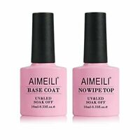 AIMEILI nail polish gel does not wipe top coat and base coat UV 2 x 10 ml
