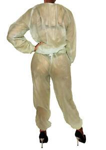 soft PVC Pyjama 20021 GENÄHT  Schwitzanzug 2tlg. Saunaanzug Saunahose Sweatshirt