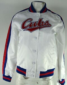 Chicago Cubs MLB Starter Women's Snap Up Varsity Jacket
