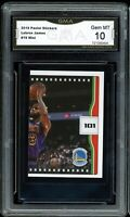 2019 Panini Stickers #19 LeBron James Graded GMA 10 GEM MINT ~ COMP TO PSA 10