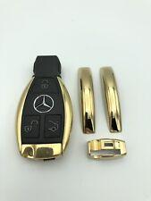 24Kt Gold Mercedes Benz Schlüssel  AMG Flanken Seitenteile Vergoldet Chrom