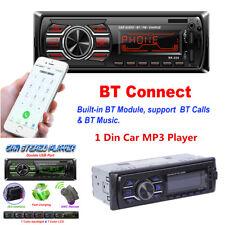 1 Din Bluetooth Car Stereo Audio In-Dash FM Aux Input SD USB MP3 Radio Player