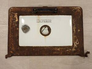 "Vintage Antique Kalamazoo Michigan Stove Co. Wood Stove Door Enamel ""Emperor"""