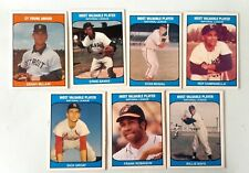 LOT 7 DIF 1985 TCMA BASEBALL MOST VALUABLE PLAYERS.....CY YOUNG AWARD