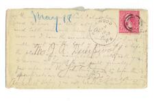 1898 JOHN A. DEMPWOLF WRITTEN LETTER ON COVER -FAMOUS PENNSYLVANIA ARCHITECT