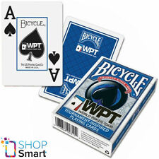 BICYCLE WPT WORLD POKER TOUR JUMBO INDEX PLAYING CARDS MAGIC TRICKS BLUE USA NEW