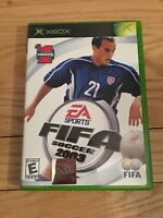 EA SPORTS FIFA SOCCER 2003 - XBOX - COMPLETE WITH MANUAL - FREE S/H - (TT)