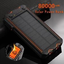 80000mAh Solar Power Bank High-Capacity Phone Charging with Cigarette Lighter