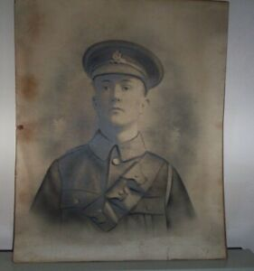Vintage old charcoal drawing (soldier)