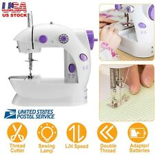 Electric Portable Sewing Machine Adjustable 2 Speed Double Thread w/Foot Pedal
