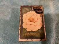 VINTAGE PLAYING CARDS DECK ASSEMBLY PINOCHLE FLOWER PLASTIC COATED