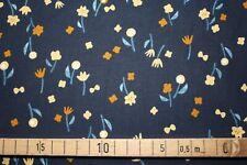 Baumwolle Neko ann Tori Streublumen Cotton & Steel print dunkelblau