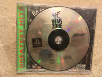 WF War Zone Wrestling Playstation Game 1999 Acclaim Sports ft Stone Cold Austin