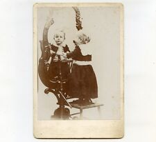 c1893 Cab Card of Little Boy with Reflection in a Mirror, Rockford, IL
