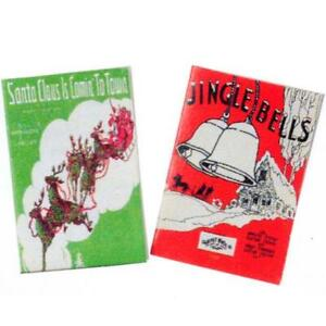 Christmas Sheet Music tin0902 Jingle B & Santa...Town Dollhouse Miniature
