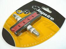 Gobike88 Jagwire Sticky Pastillas De Freno Zapatos Para Mtb V & C Freno, Rojo, 606
