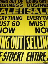 6 Asst. GOING OUT OF BUSINESS Window Signs 2x3 Paper