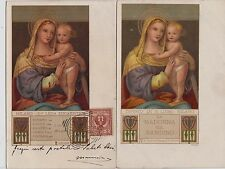 # MADONNA NELL'ARTE ediz. CHIATTONE- 2 CART. Dip.di B. LUINO- Milano (3)
