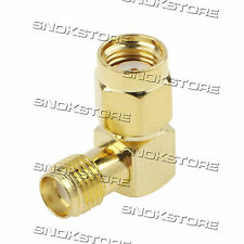 ADATTATORE ADAPTER CONNETTORE RP-SMA MALE TO SMA FEMALE RIGHT ANGLE 90°