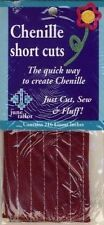 Burgundy Chenille Short Cuts 216 linear inches June Tailor