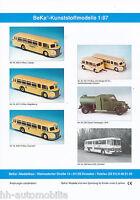5001BE BeKa Modellautos 1:87 Prospekt 1997 brochure model cars prospectus