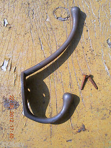 10 x 1950's Style ~ Retro Cast Iron Coat Hooks ~