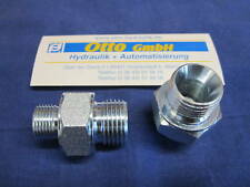"Doppelnippel zöllig 1/2"" AG x 3/8"" AG Hydraulik Adapter"
