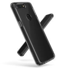 OnePlus 5T Case Slim Transparent TPU Bumper Cover Crystal Clear Back Smoke Black