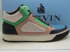 $680 New Lanvin Mid-Top Sneakers Rosewood Size 7 UK US 8 Authentic in Box