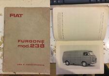 Libretto uso e manutenzione  FIAT furgone mod. 233 prima edizione 1966
