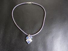 Kette Collier 925Silber mit hellblauen und durchsichtigen Steinen 38cm  NEU!!!!