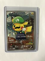 Luigi Pikachu Japanese Promo Pokemon Card 296/XY-P Near Mint Minus Condition NM-