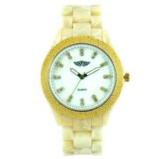 NEW WOMEN  LADIES CRYSTAL DIAL BEAUTIFUL WATCH IN PLASTIC BAND