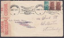 1942 South Africa, Johannesburg Censor to Watford, Herts redirect Wollaston