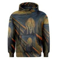 Edvard Munch The Scream Sublimation Men's Pullover Hoodie Size S-3XL Free Ship