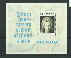 D 1638.Grenada 1975 Michel Angelo MNH BL