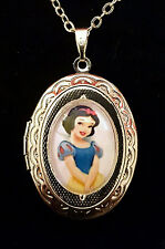 Snow White Disney Silver Children's Ornate Locket and Necklace