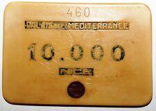 Plaque Casino Palais de la Mediterranee Nice 10.000 Francs