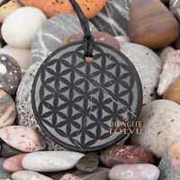 Shungite pendantFlower of Life made of rare Russian Stone amulet, Tolvu