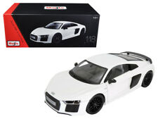 1/18 Maisto Audi R8 V10 Plus White Exclusive Edition Diecast Model White 38135