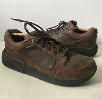 Men's New Balance MW928BR Size 10.5 D Brown Rugged Leather Walking Shoes