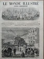 LE MONDE ILLUSTRE 1871 N 757  M .FELIX LAMBRECHT, MINISTRE DE L' INTERIEUR, DCD.