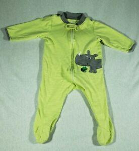 Little Wonders Boy Yellow Footed Romper Sleeper Pjamas Elephant Size 3-6 Months