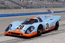 1/10 Porsche Le Mans 917 Gulf RC car body +decal fr Tamiya / Pan / Hpi 190 200mm