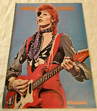 DAVID BOWIE 1974 clipping Swedish Poster Magazine GO 1970s - Rare Vintage