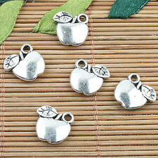 Alloy metal Tibetan Silver color 2sided apple design charms 20pcs EF0009