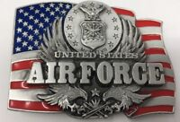 United States Air Force Vintage Pewter Belt Buckle 1991 Siskiyou Buckle Co C-92