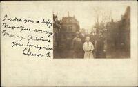 People & Bldgs - Lynn MA Written on Back - Real Photo Postcard c1915